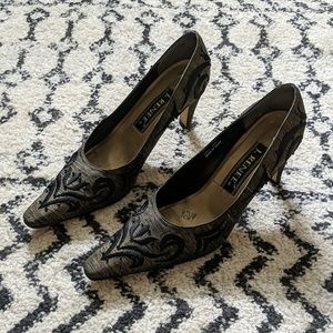 J. Renee embroidered pumps
